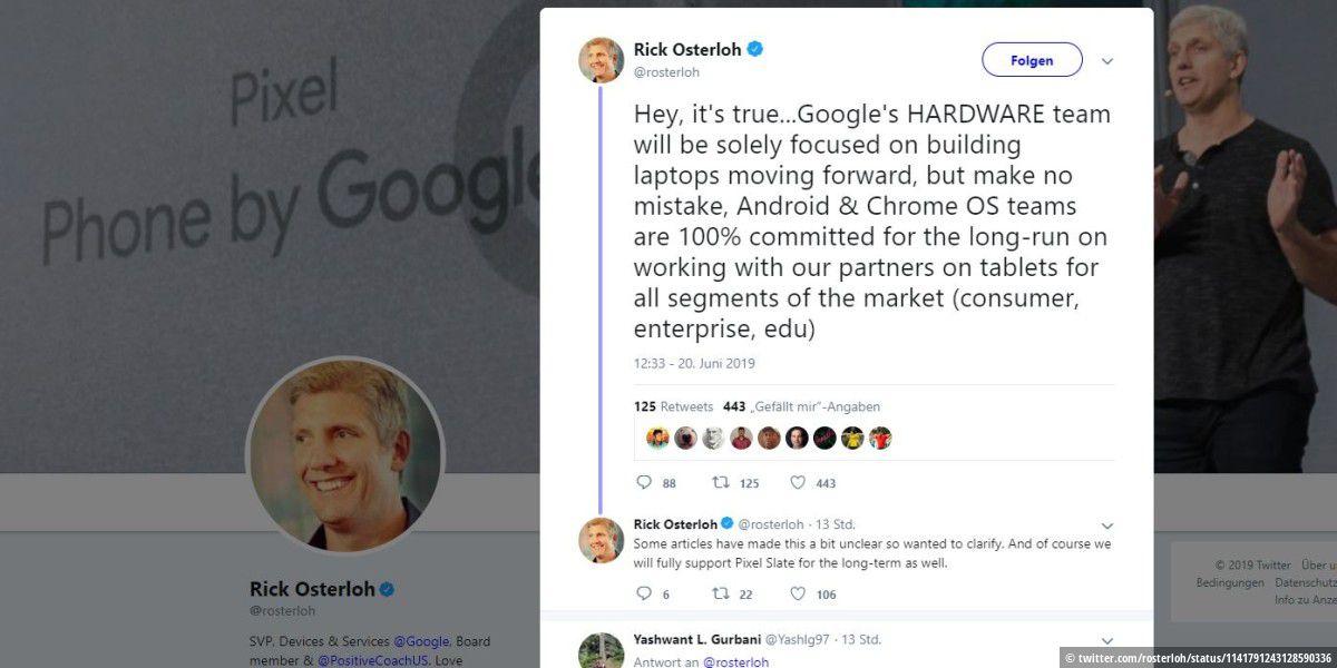 Pixel Slate: Google produziert keine eigenen Tablets mehr