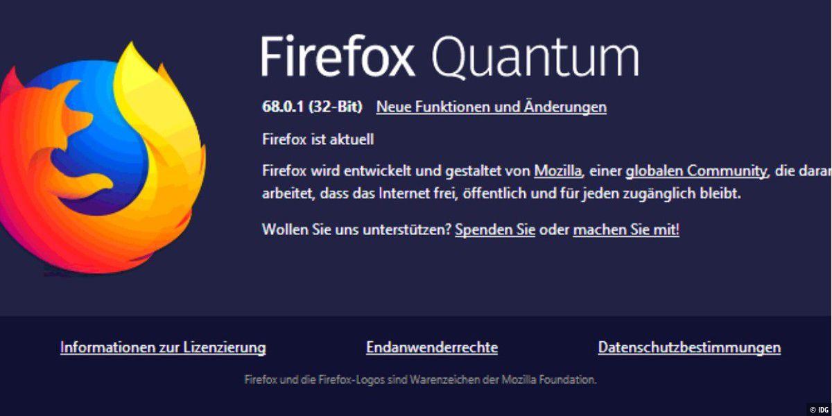 Firefox 68.0.1: Update behebt einige Fehler im Browser