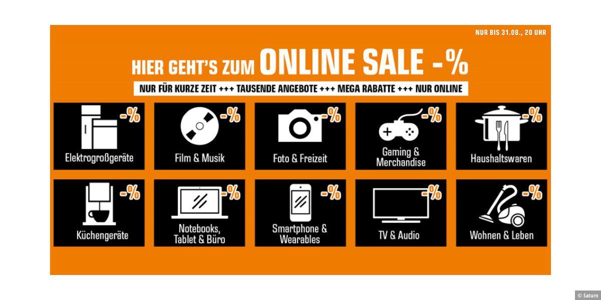 Tausende Angebote im Online-Sale bei Saturn
