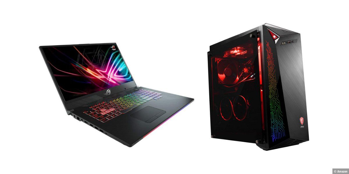 Amazon: Gaming-Laptops und -PCs im Tagesangebot