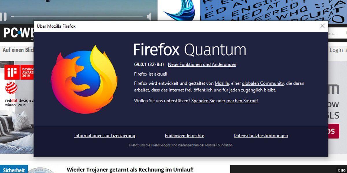 Firefox 69.0.1: Bugfix-Release steht zum Download bereit