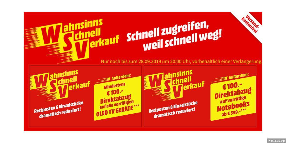 WSV: Media Markt mit unzähligen Outlet-Angeboten