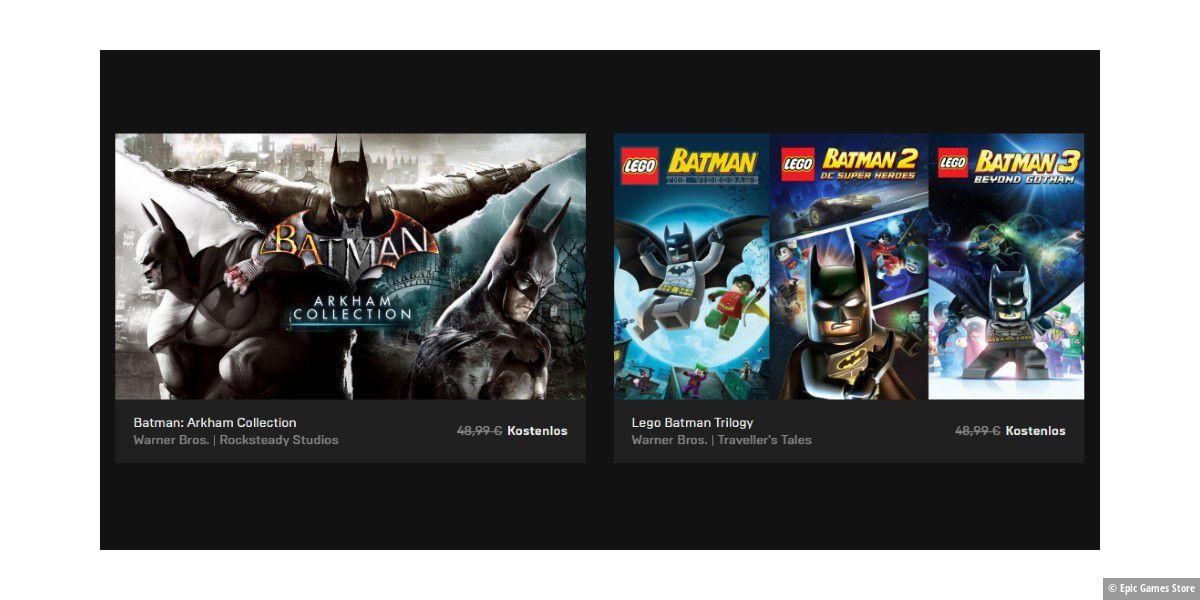 Epic Games Store: 6 Batman-Games kostenlos