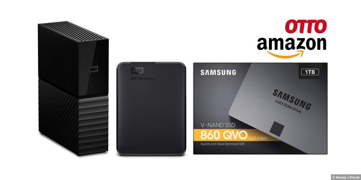 SSDs und Festplatten zu Hammer-Preisen