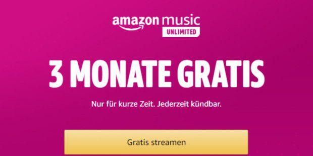 Amazon Music Unlimited: 3 Monate gratis streamen!