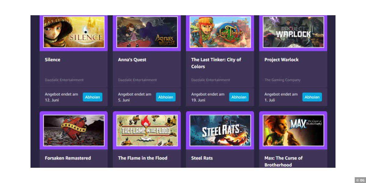 Amazon schenkt allen Prime-Kunden 9 PC-Spiele