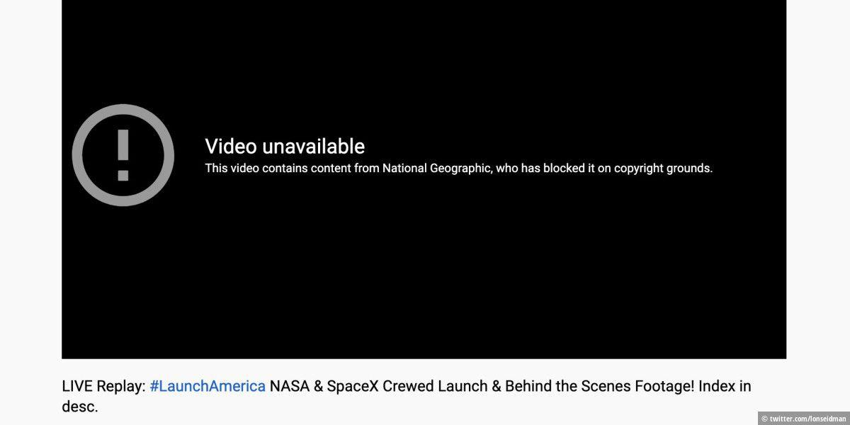Peinlicher Fehler: Youtube sperrt Videos der NASA