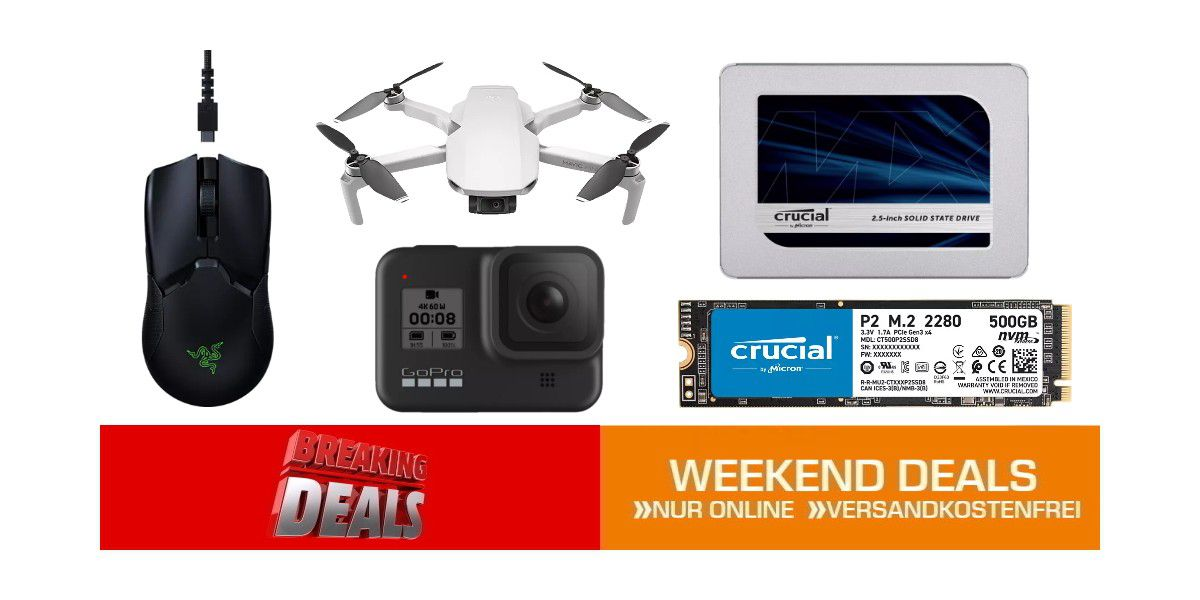 Weekend-Deals: Drohnen, SSDs + weitere Top-Angebote