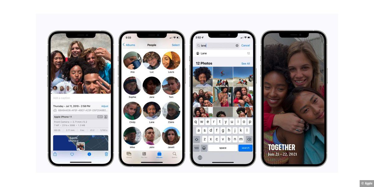 iOS 15 kann Gesichter selbst mit Maske erkennen