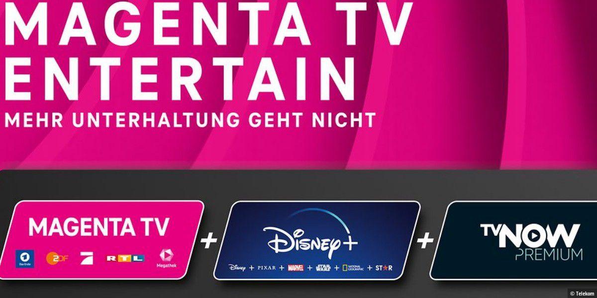 Magenta TV: Neuer Tarif mit Disney+ und TVNOW Premium