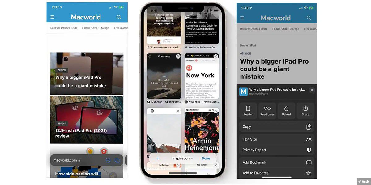 iOS 15: Selbst Apple-Mitarbeiter von Safari verwirrt