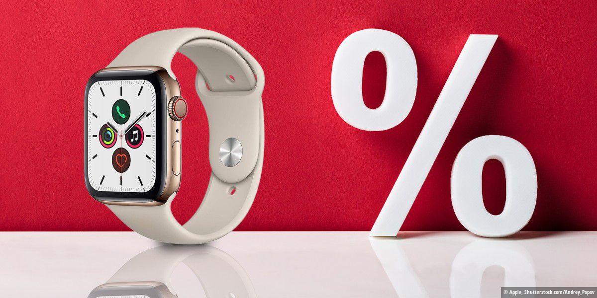 235 Euro günstiger: Apple Watch Series 5 bei Amazon