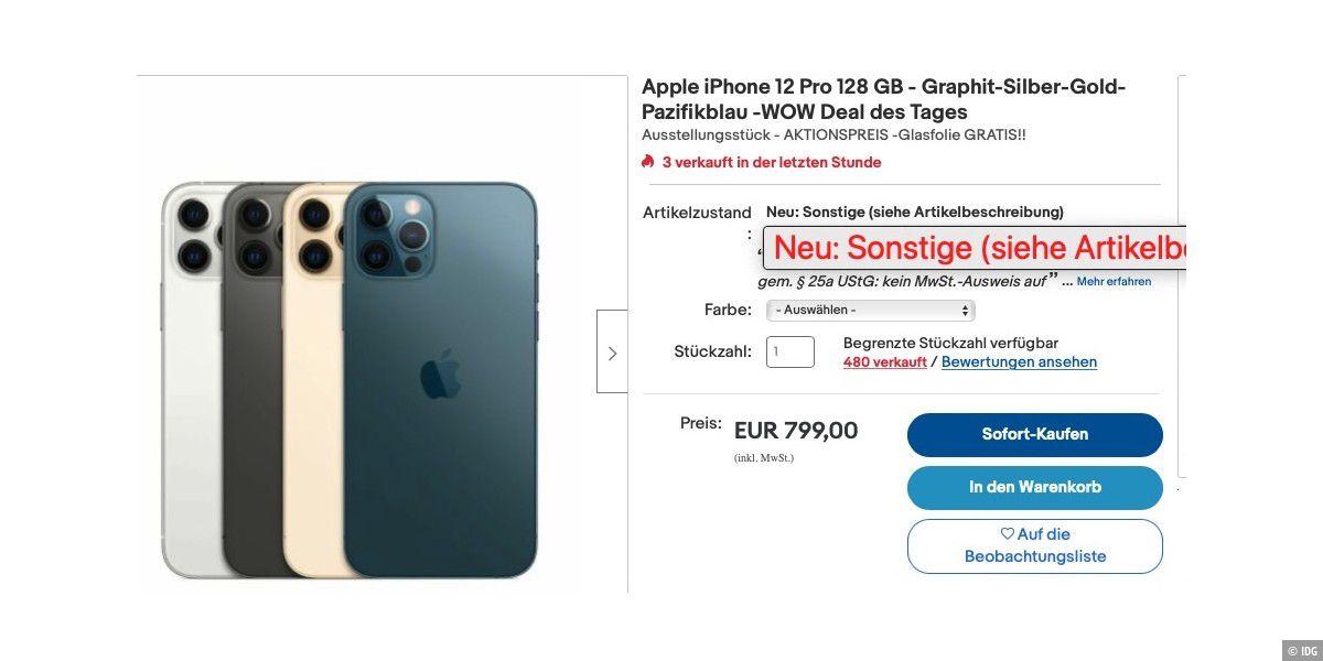 So erkennen Sie unseriöse Apple-Angebote auf Ebay