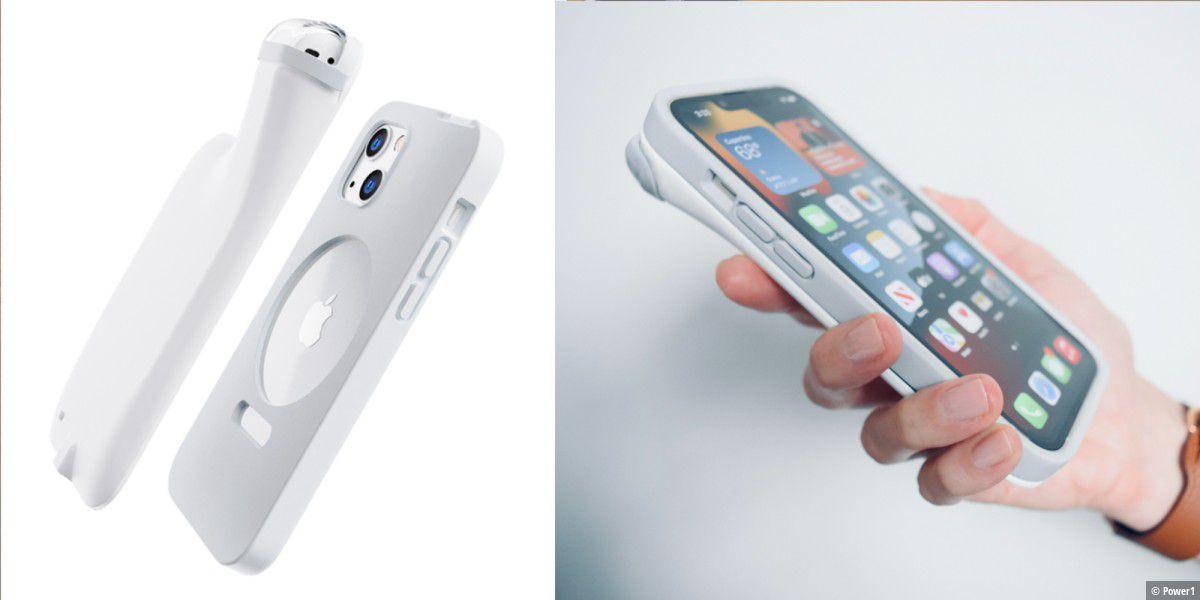 Hässlich, aber praktisch: iPhone-Hülle lädt Airpods